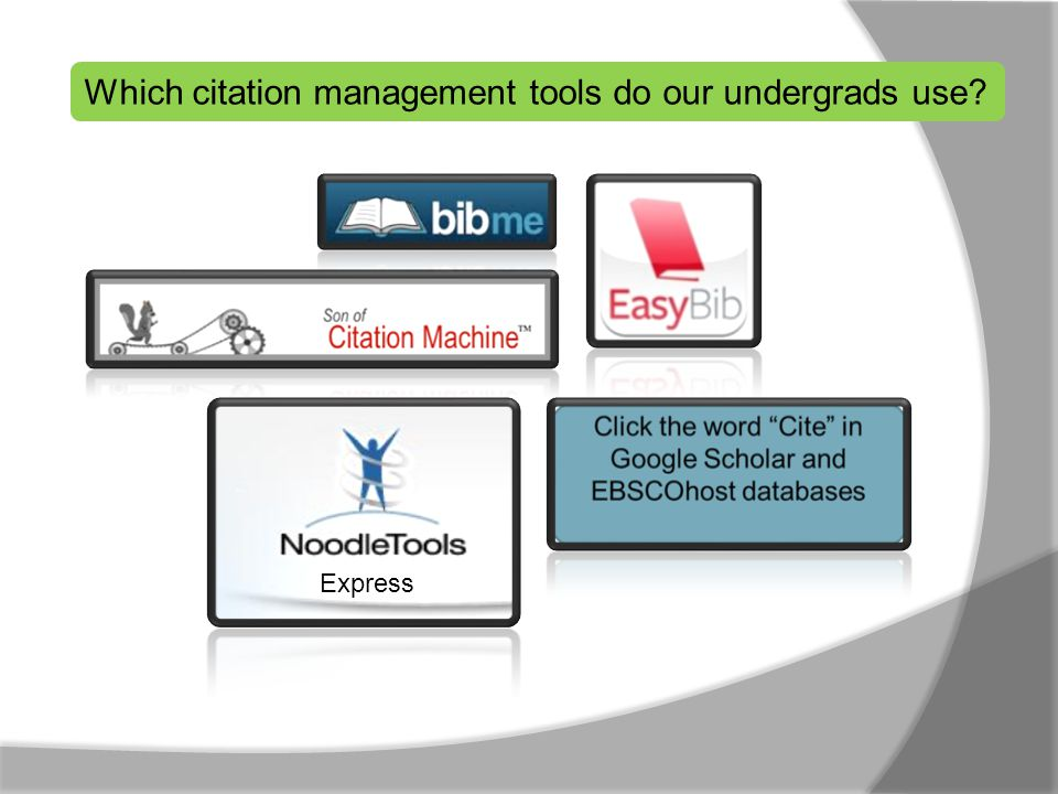 Which citation management tools do our undergrads use Express