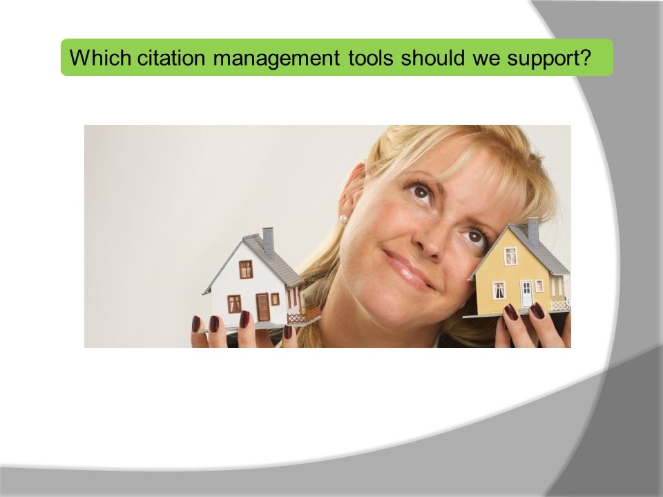 Which citation management tools should we support