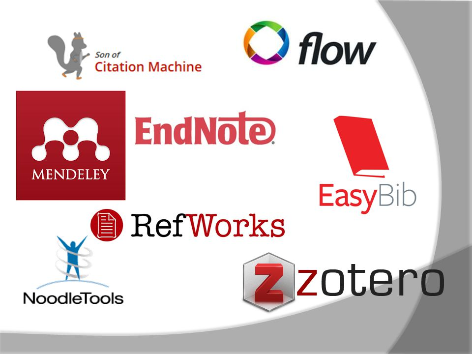 Proquest FlowZoteroMendeley Endnote (only works for some recent PDFs) RefWorks Son of Citation Machine BibMeEasyBib Who can extract embedded data from the PDF easily.