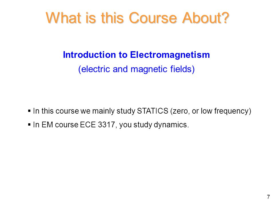 What is this Course About.