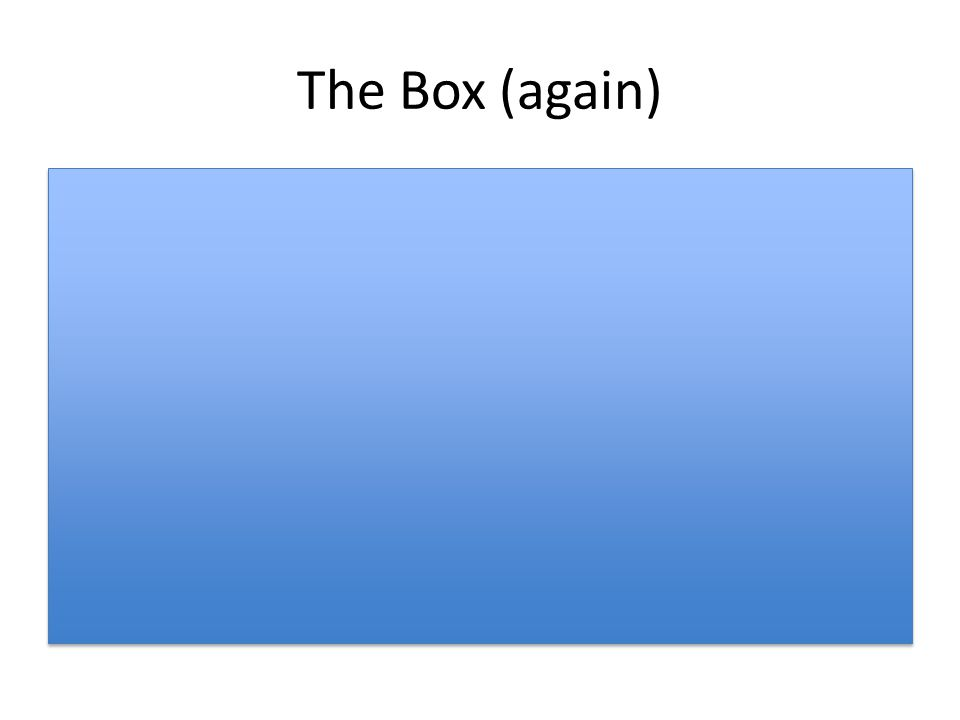 The Box (again)