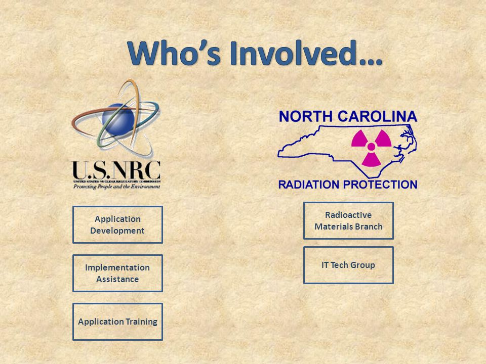 Radioactive Materials Branch IT Tech Group Application Development Implementation Assistance Application Training