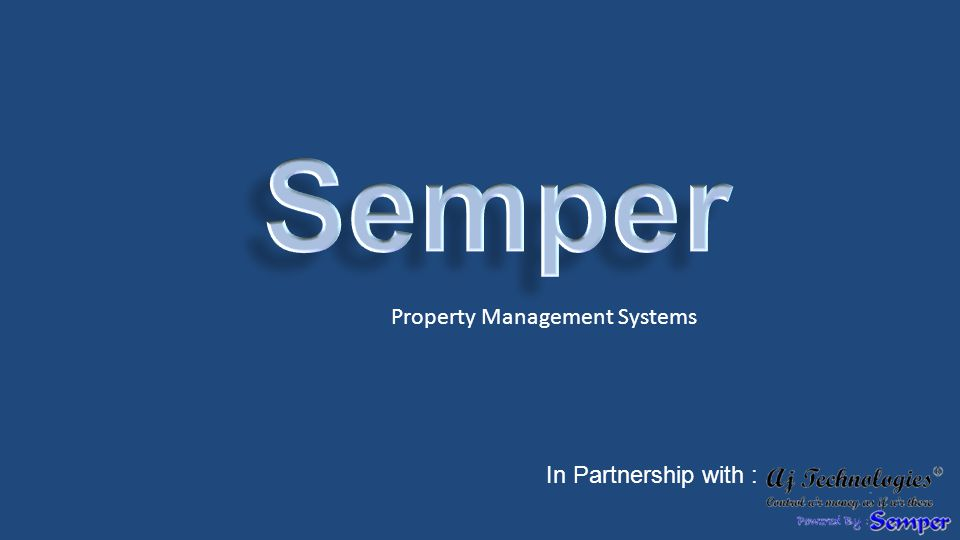 Property Management Systems In Partnership with :