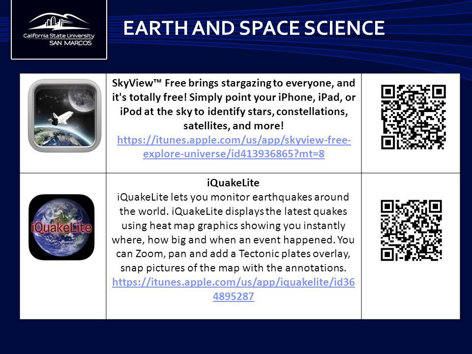 EARTH AND SPACE SCIENCE SkyView™ Free brings stargazing to everyone, and it s totally free.