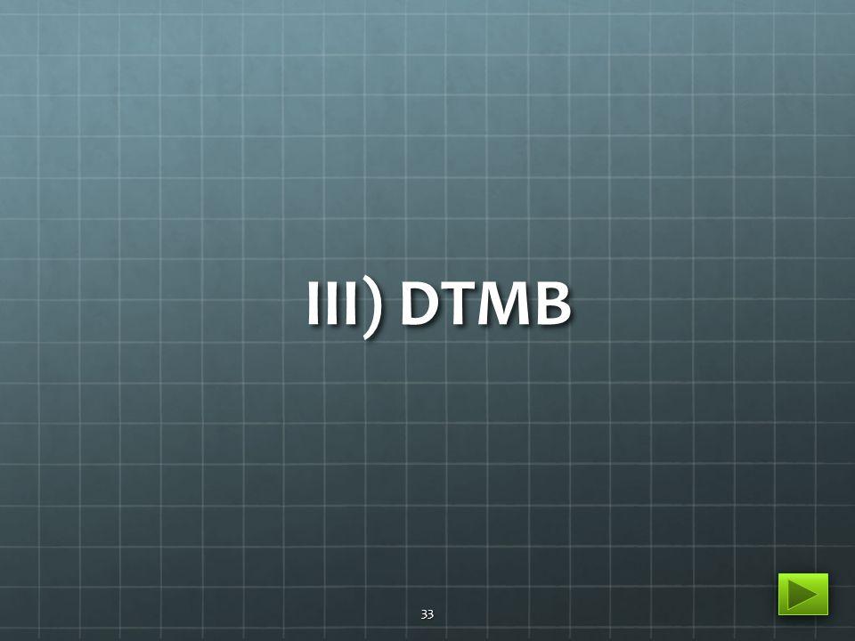 III) DTMB 33