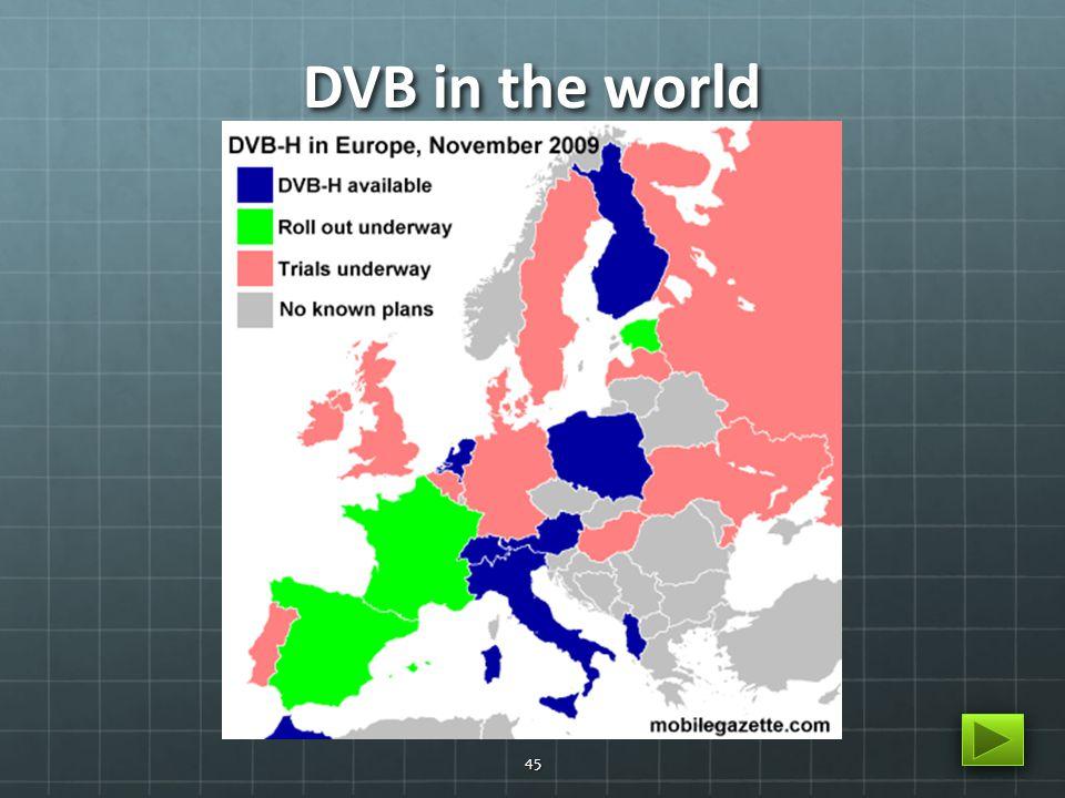 DVB in the world 45