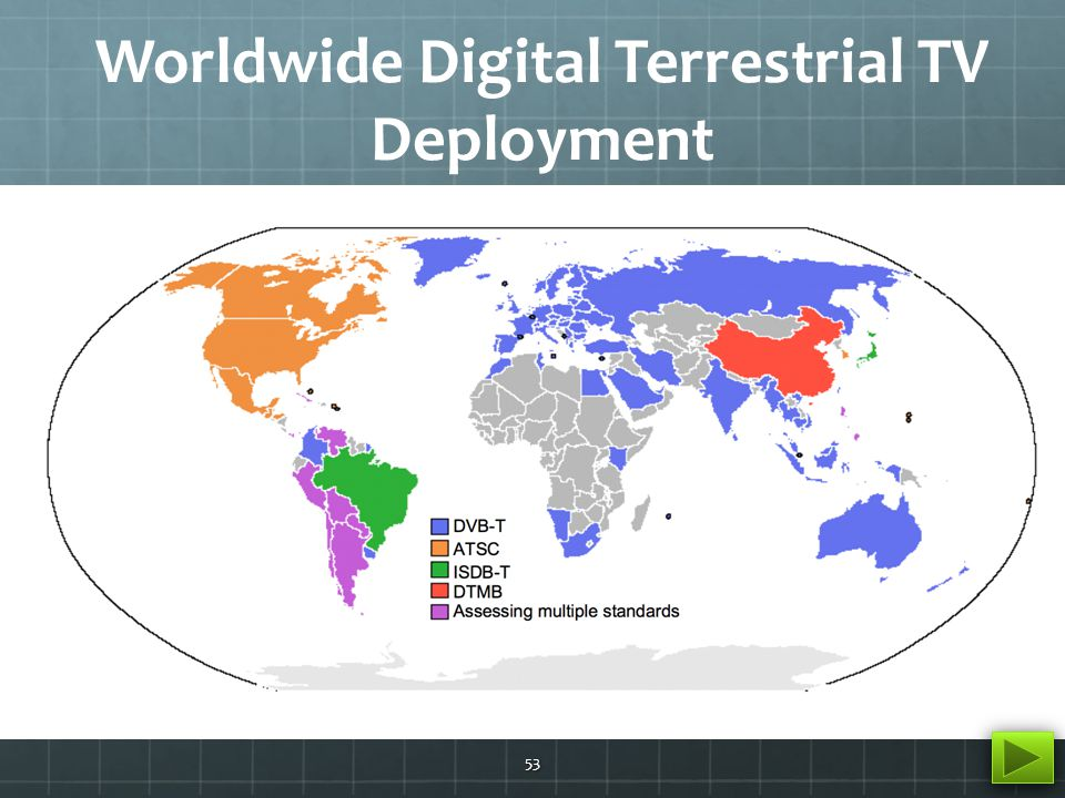 China DTMB Deployment Landscape 54 The DTMB standard was ratified on Aug.