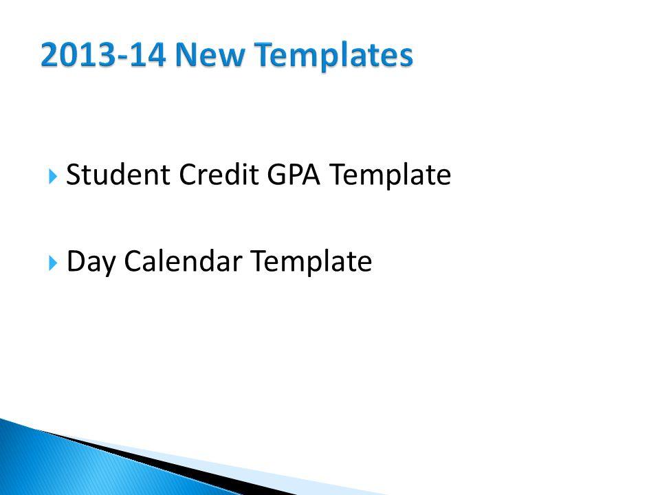  Student Credit GPA Template  Day Calendar Template