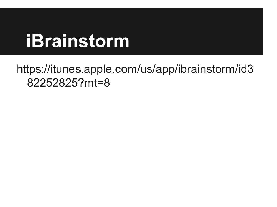 iBrainstorm https://itunes.apple.com/us/app/ibrainstorm/id3 82252825 mt=8