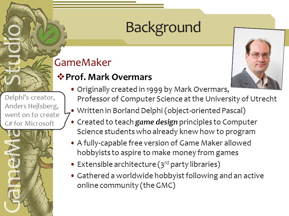 GameMaker  Prof.