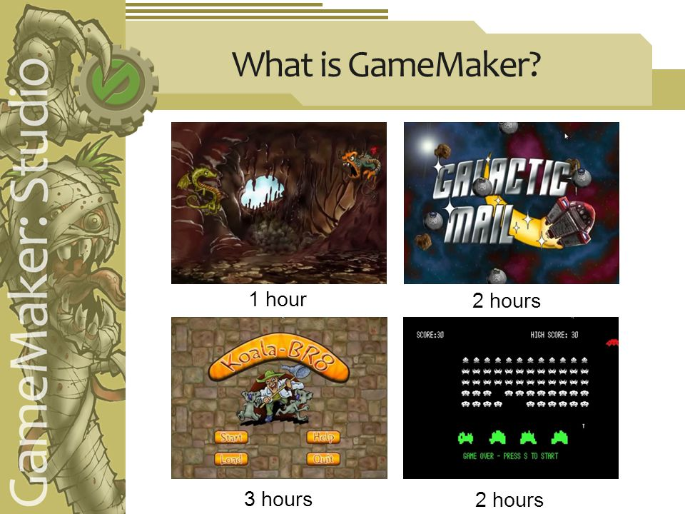 What is GameMaker 1 hour 2 hours 3 hours 2 hours