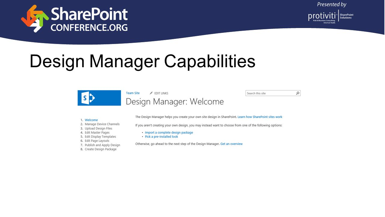 Design Manager Capabilities
