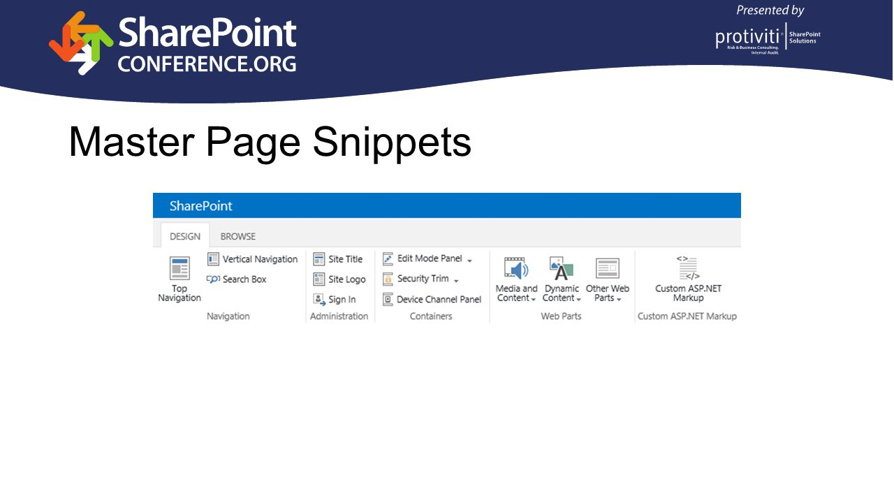 Master Page Snippets