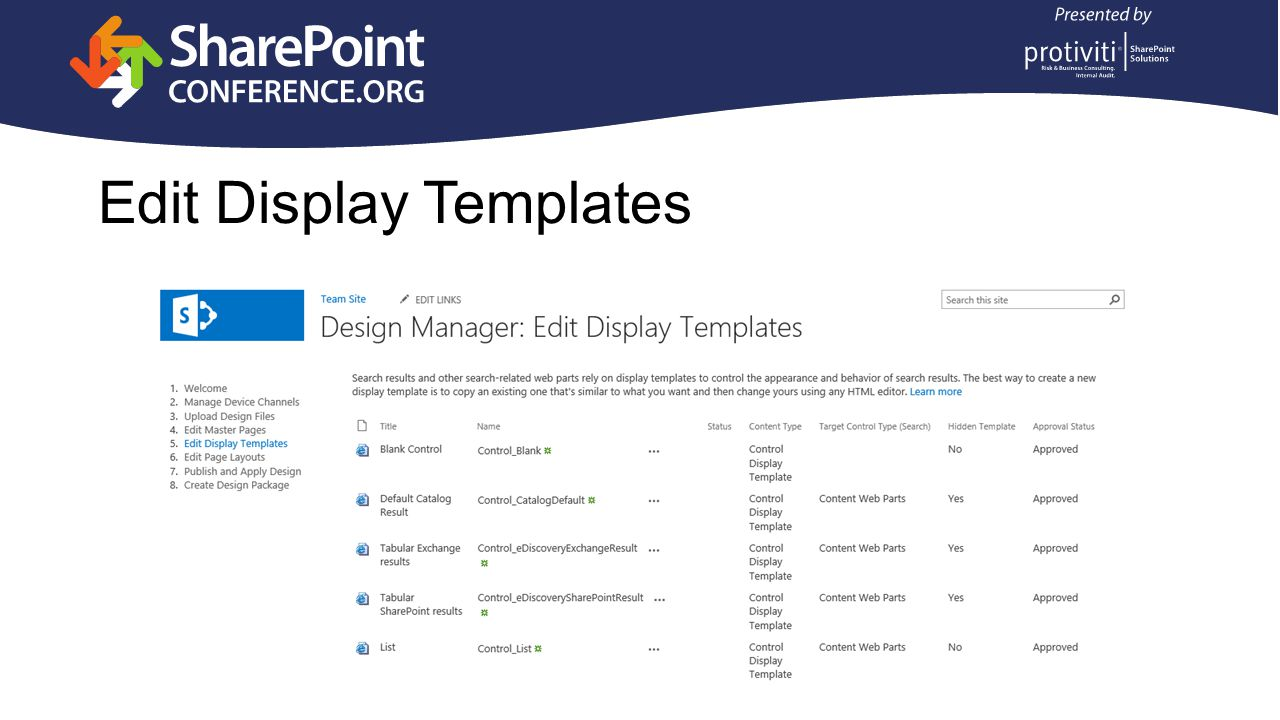 Edit Display Templates