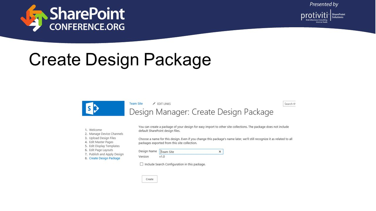 Create Design Package