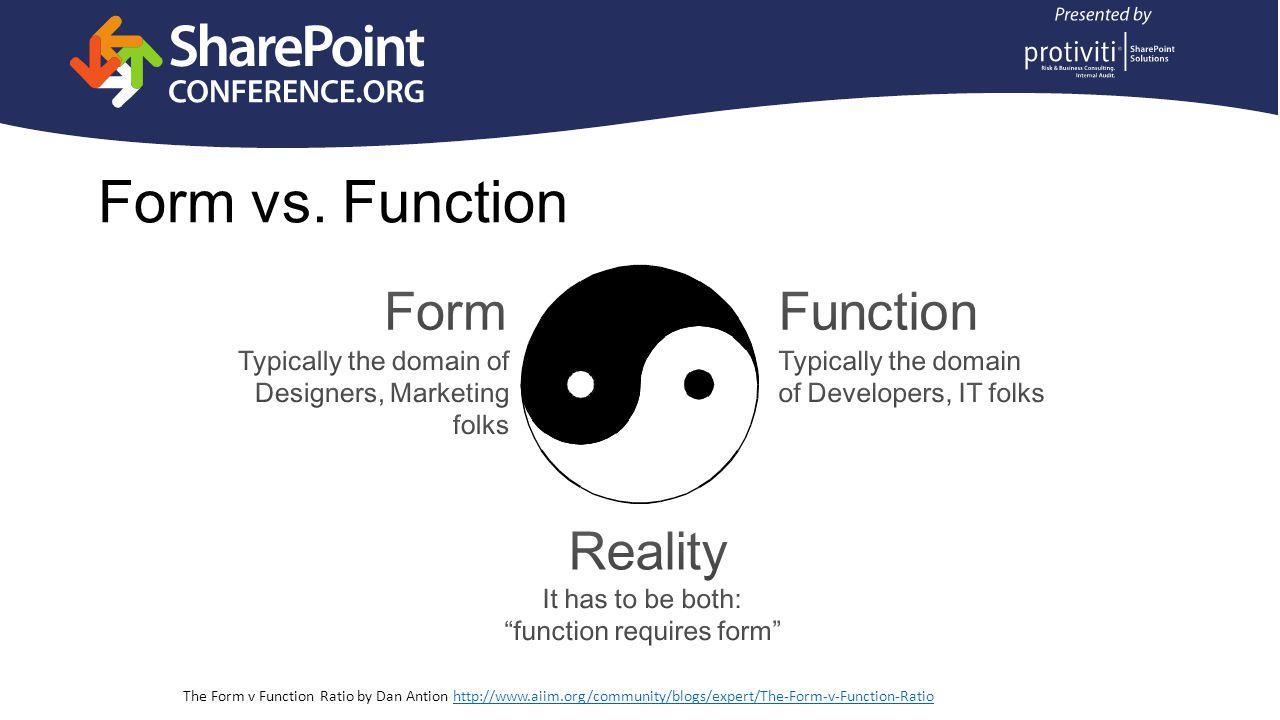 Form vs.