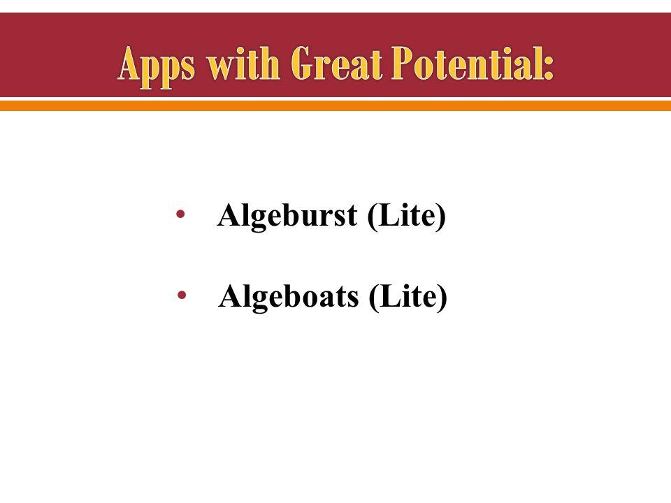 Algeburst (Lite) Algeboats (Lite)