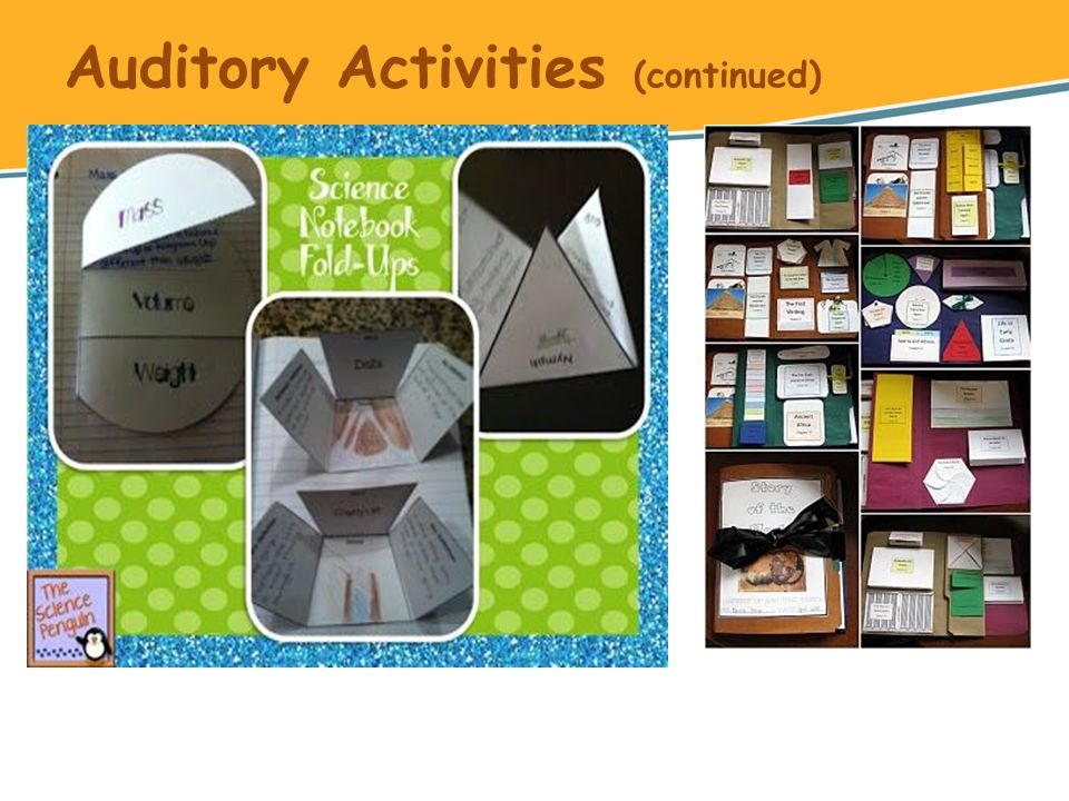Auditory Activities (continued)