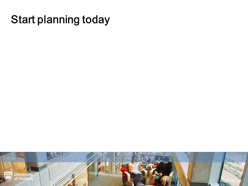 Start planning today