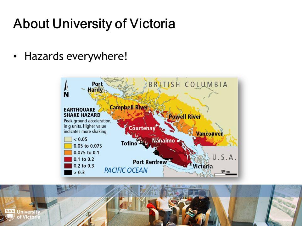 About University of Victoria Hazards everywhere!