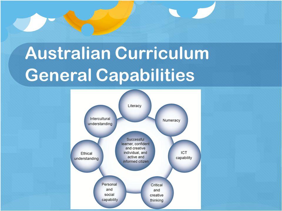 Australian Curriculum General Capabilities