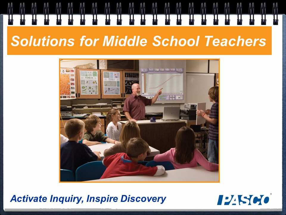 Activate Inquiry, Inspire Discovery Solutions for Middle School Teachers
