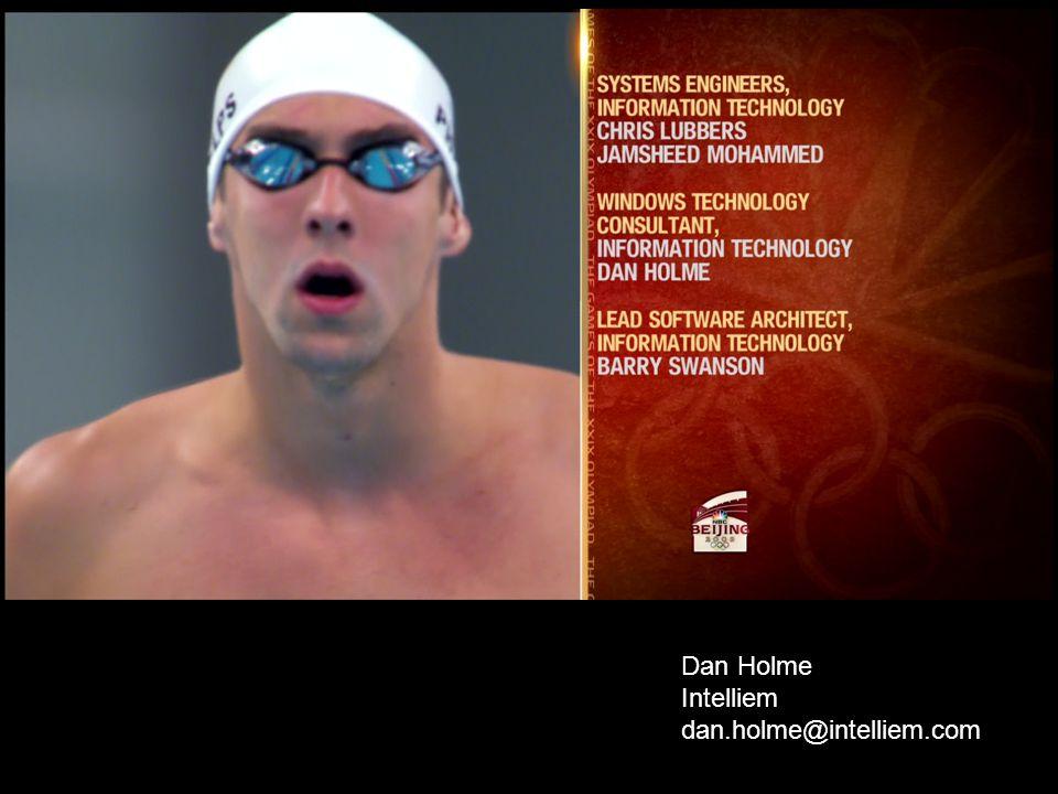 Dan Holme Intelliem dan.holme@intelliem.com