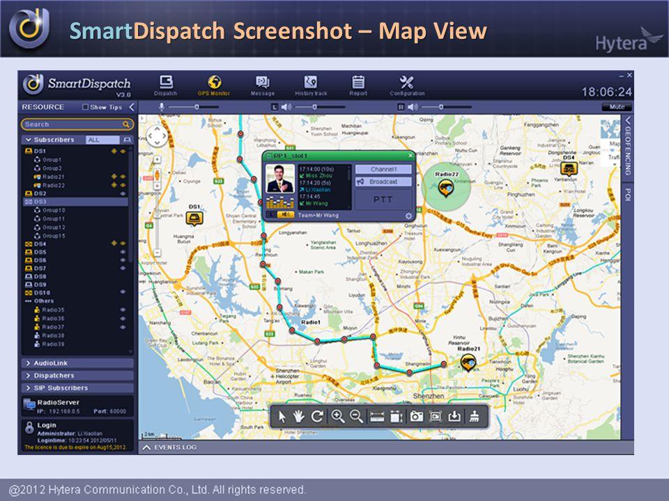 SmartDispatch Screenshot – Map View