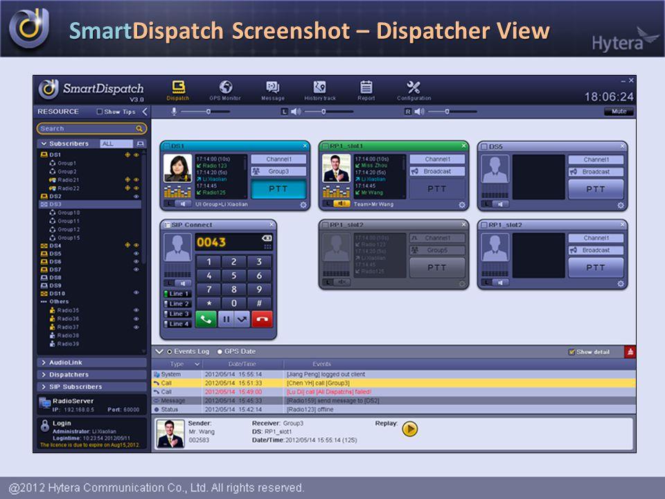 SmartDispatch Screenshot – Dispatcher View