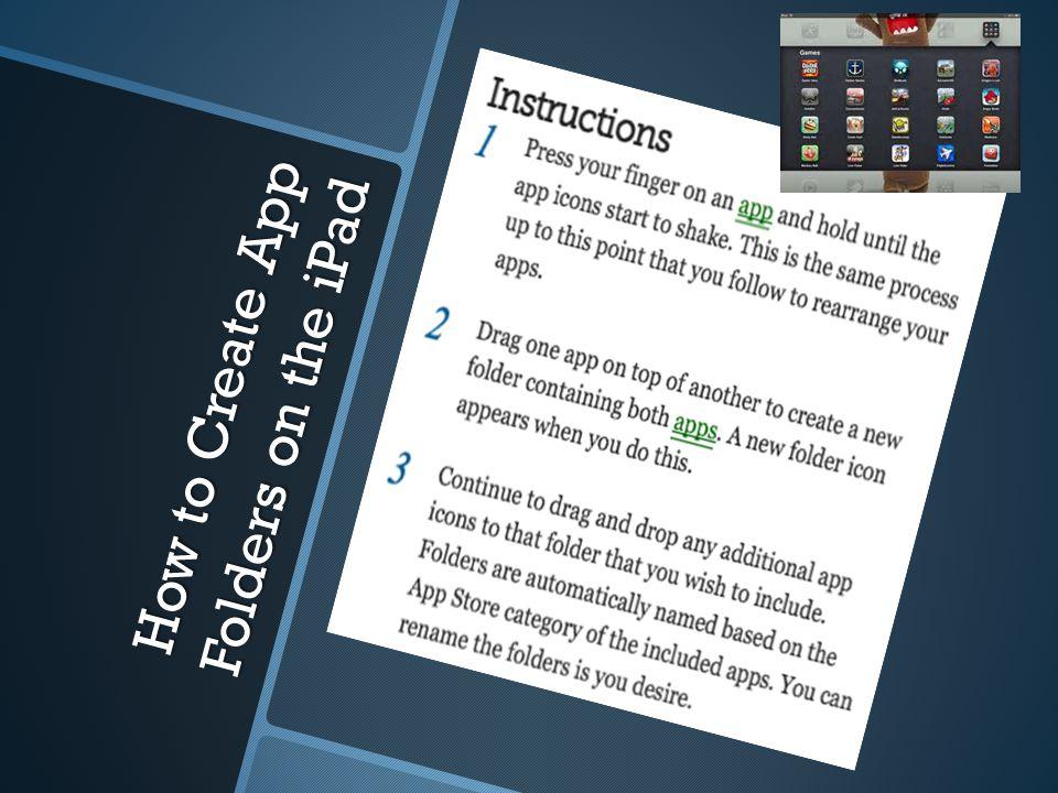 How to Create App Folders on the iPad