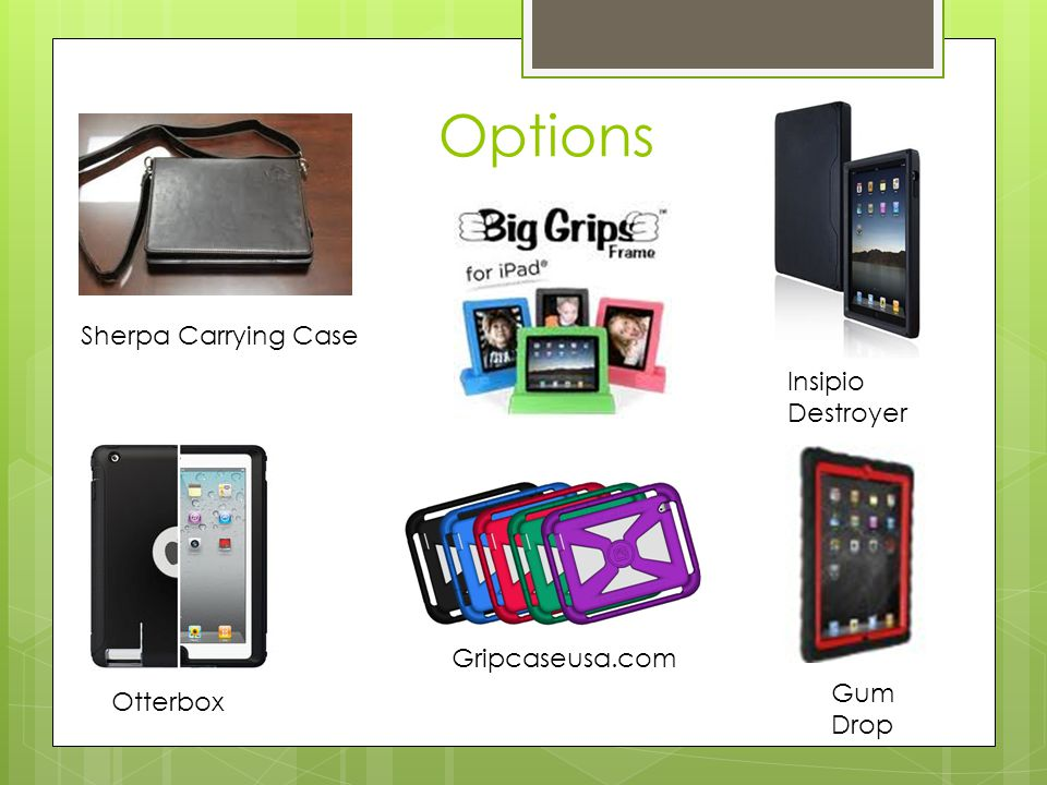 Options Gripcaseusa.com Insipio Destroyer Otterbox Gum Drop Sherpa Carrying Case