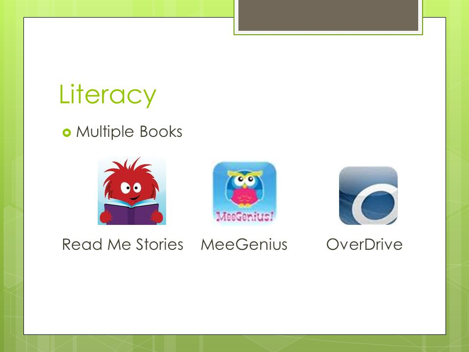 Literacy  Multiple Books Read Me Stories MeeGenius OverDrive