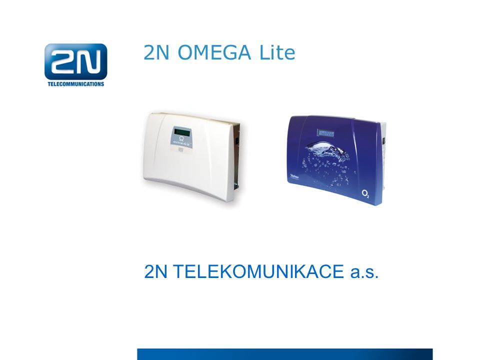 2N OMEGA Lite 2N TELEKOMUNIKACE a.s.