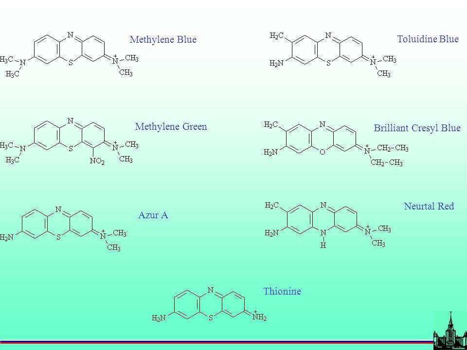 Methylene Blue Methylene Green Azur A Toluidine Blue Brilliant Cresyl Blue Neurtal Red Thionine