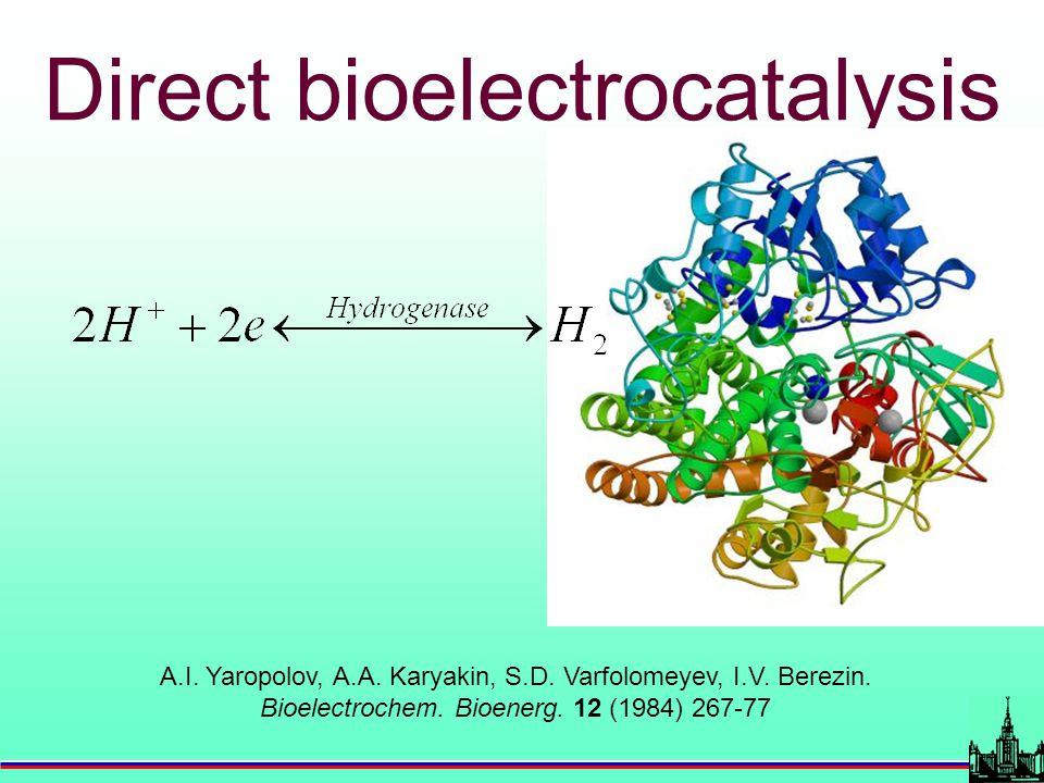 A.I. Yaropolov, A.A. Karyakin, S.D. Varfolomeyev, I.V. Berezin. Bioelectrochem. Bioenerg. 12 (1984) 267-77 Direct bioelectrocatalysis