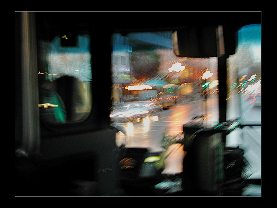 Teacher: Kenji Tachibana Digital Photography I My Old Stuff 1 of 3/ Chronological but Random Seattle Downtown: Catch a bus for a free bus ride to capture the moving traffic scene.
