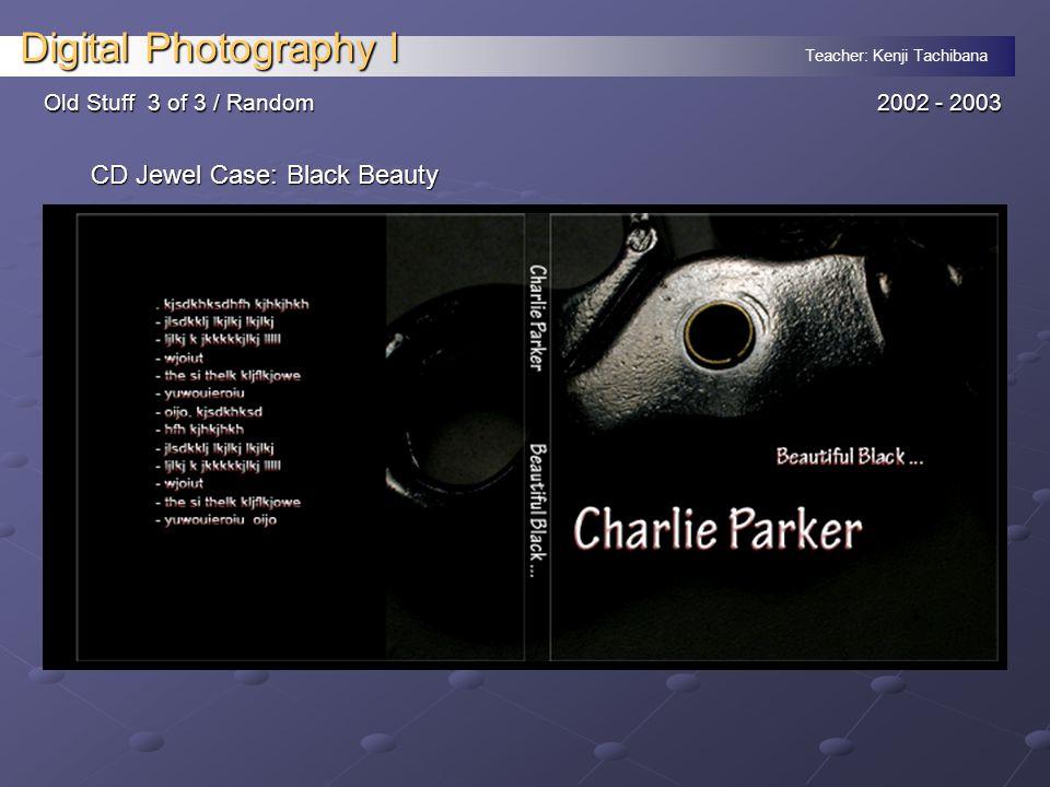Teacher: Kenji Tachibana Digital Photography I Old Stuff 3 of 3 / Random 2002 - 2003 CD Jewel Case: Black Beauty