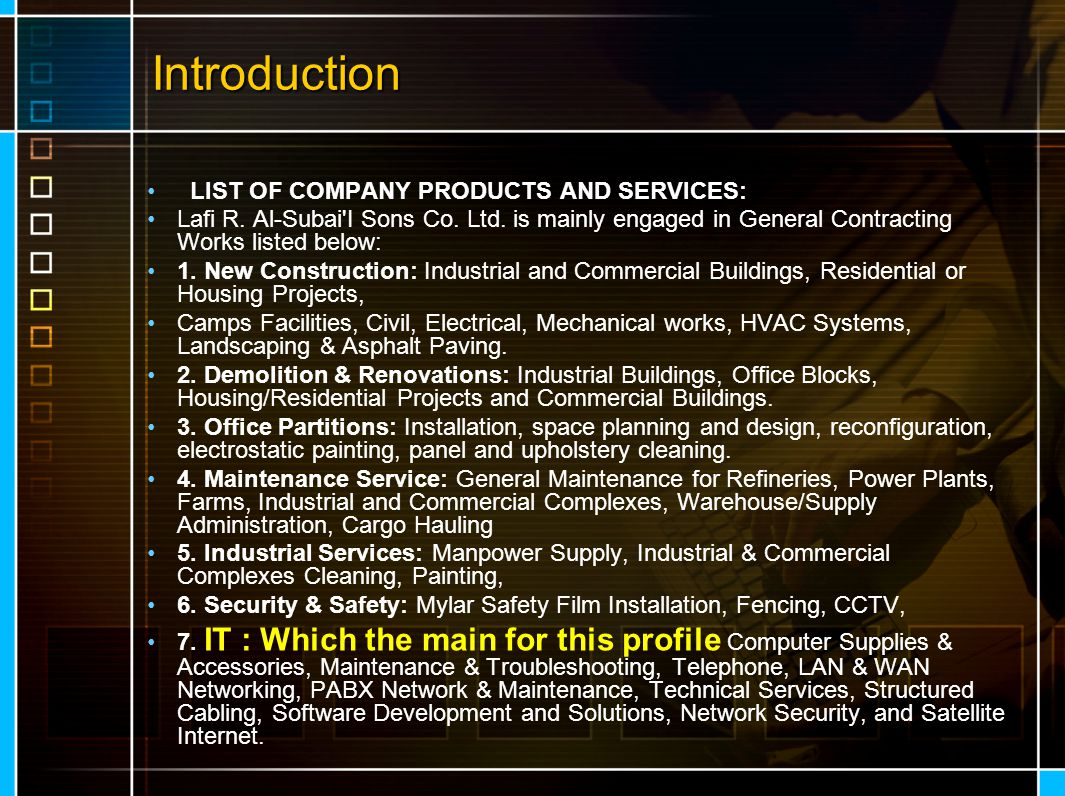LRSIT head Line LRSIT provides there clients with a myriad of services that help them improve their business by leveraging today's latest IT technologies and design techniques.