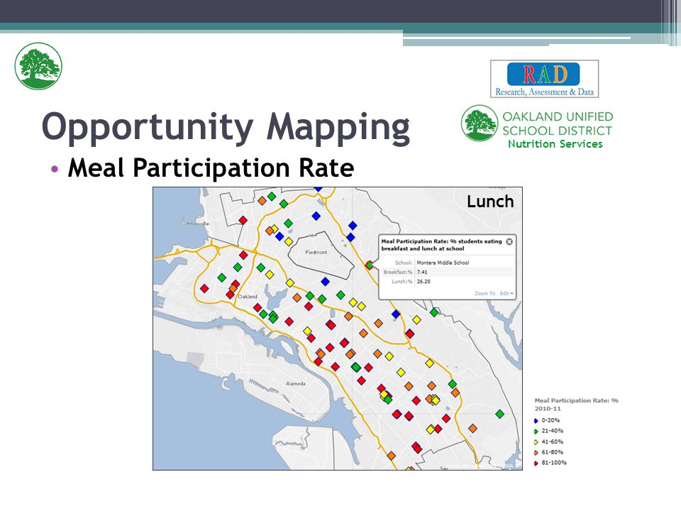 Meal Participation Rate Opportunity Mapping Breakfast Lunch Nutrition Services