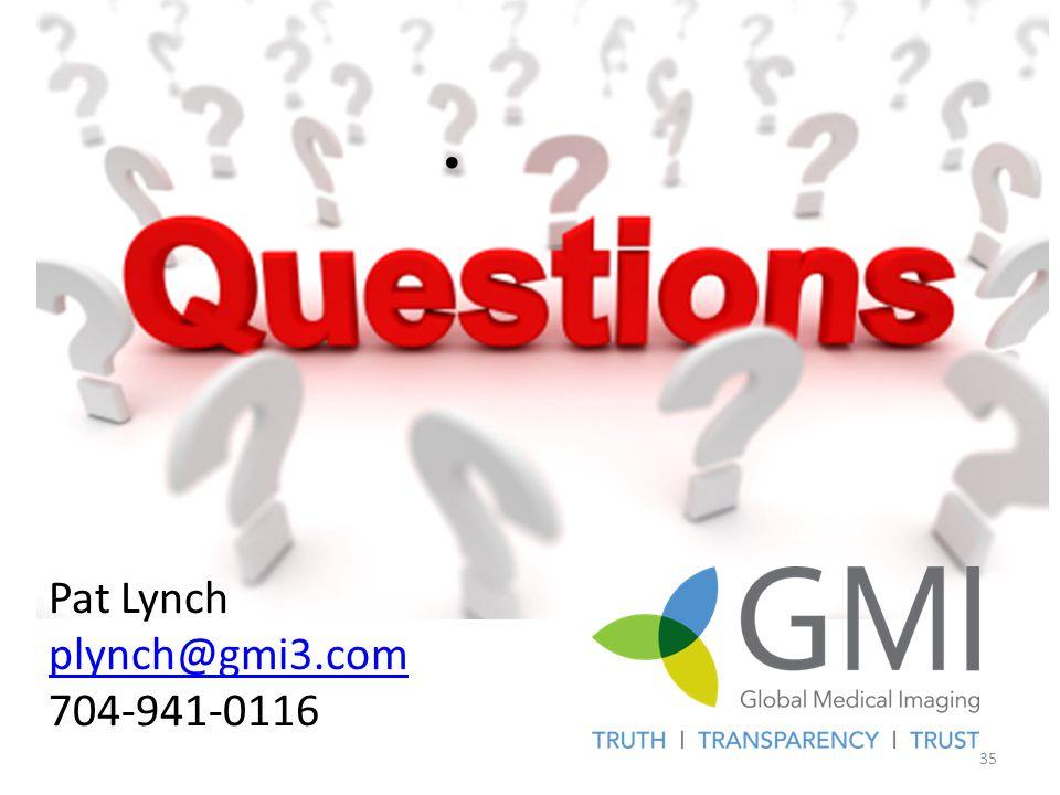 Pat Lynch plynch@gmi3.com 704-941-0116 35