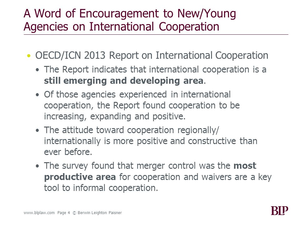 So, Now is a Good Time to Engage… For the many agencies that have not been involved in international cooperation (young and experienced) the message is: you haven't missed the boat and you are not behind with regard to cooperation.