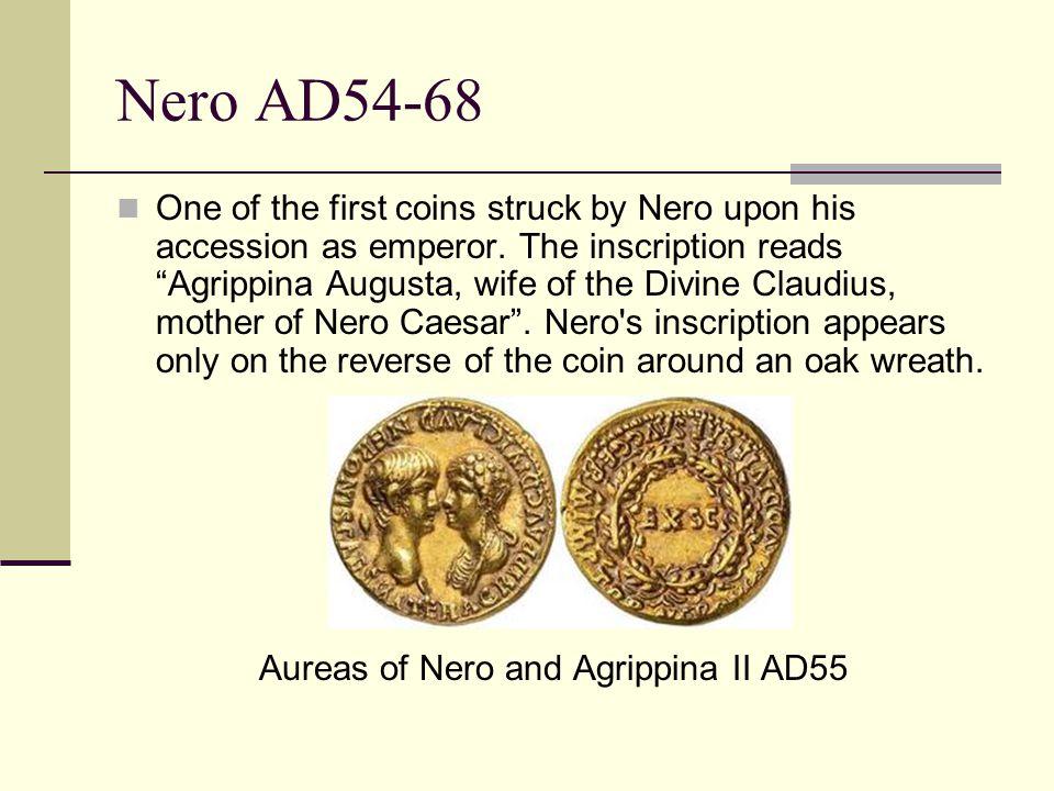 More coins… The third precious metal coinage of Nero as emperor.
