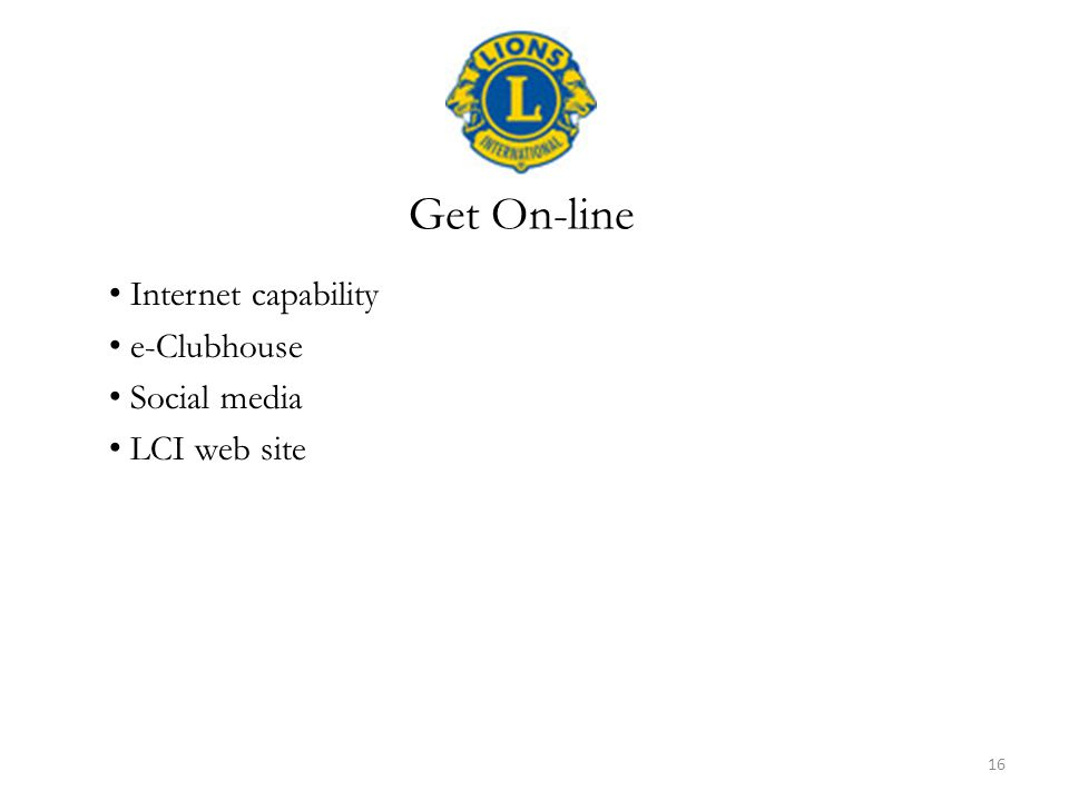 Internet capability e-Clubhouse Social media LCI web site Get On-line 16