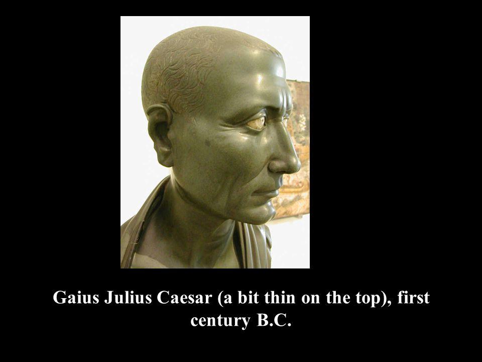 Gaius Julius Caesar (a bit thin on the top), first century B.C.