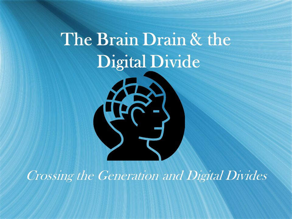 The Brain Drain & the Digital Divide Crossing the Generation and Digital Divides