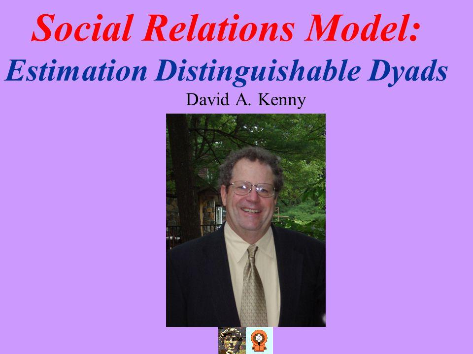 Social Relations Model: Estimation Distinguishable Dyads David A. Kenny