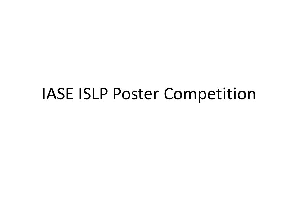 IASE ISLP Poster Competition