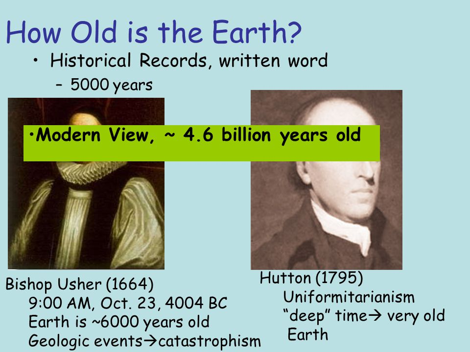 How Old is the Earth Relative Dating –Determines how old a rock is in relation to its surrounding Absolute (Numerical) Dating –Determines actual age in years Geochronology is the study of time in relation to earth's existence