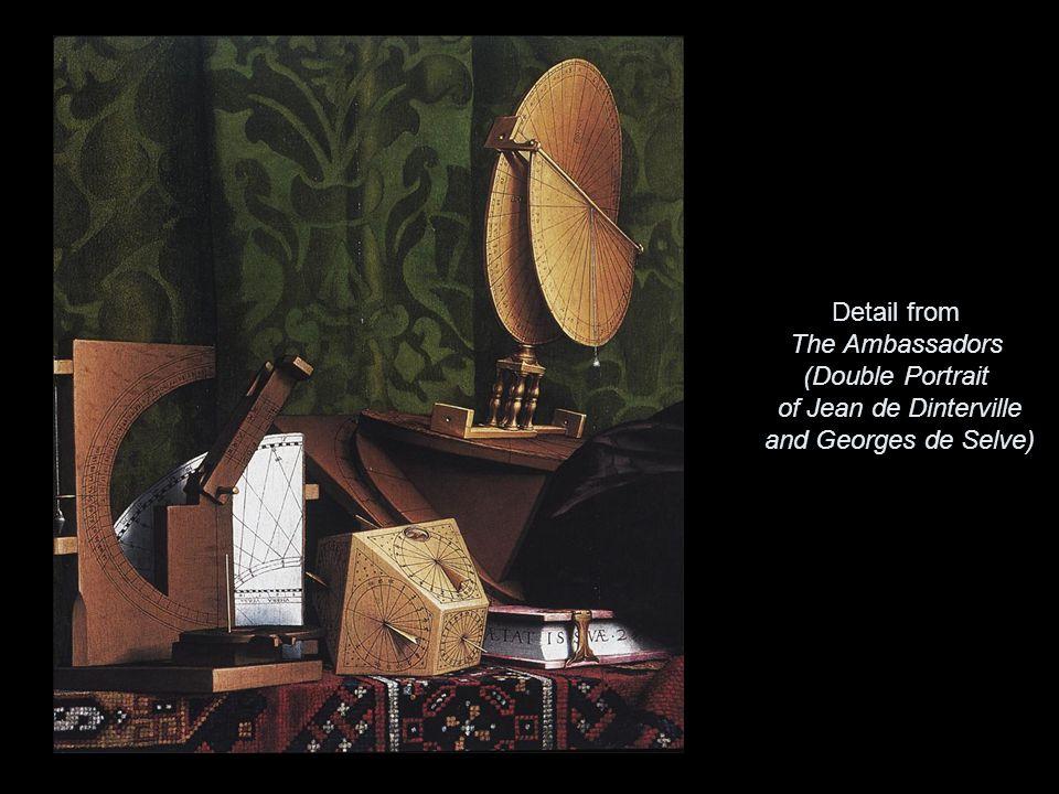 Detail from The Ambassadors (Double Portrait of Jean de Dinterville and Georges de Selve)