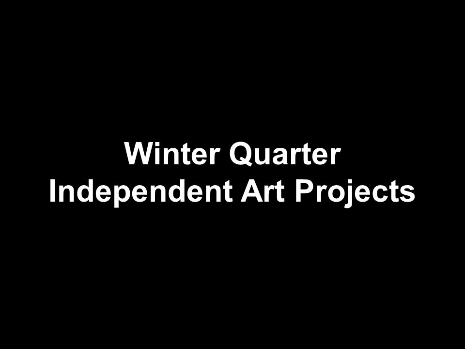 Winter Quarter Independent Art Projects